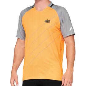 100% Celium Enduro/Trail Jersey Men, pomarańczowy/szary